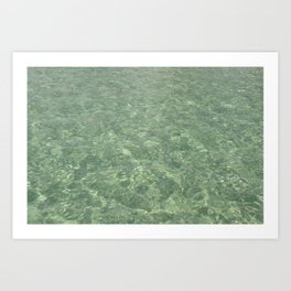 Clean Ocean Water Art Print
