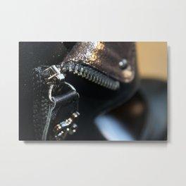 Zipper on a shoe Metal Print