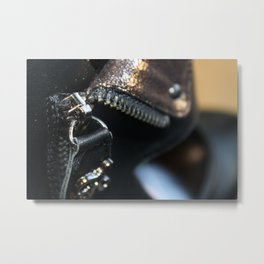 Zipper on a shoe Metal Print