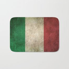 Old and Worn Distressed Vintage Flag of Italy Bath Mat