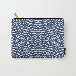 Art Deco Navy Carry-All Pouch