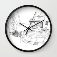 2001 Wall Clocks featuring 2001 A Space Odyssey by Ah Shun