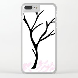 Lifeless tree... Clear iPhone Case