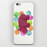 hippo iPhone & iPod Skins featuring Hippo by Katy Welte