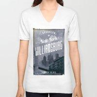 brooklyn V-neck T-shirts featuring BROOKLYN by Stylegrafico