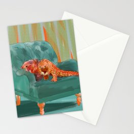 animals in chairs #5 the Pangolin Stationery Cards