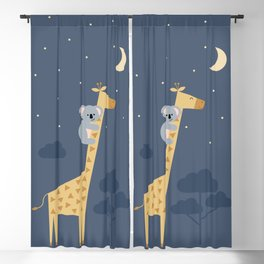 Reach for the stars, don't be afraid to ask for help Blackout Curtain