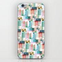 bath iPhone & iPod Skins featuring Bath by Coral Elizabeth Design