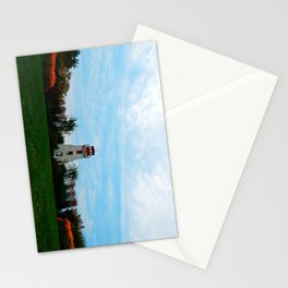 Garden and Lighthouse at the bottle houses Stationery Cards