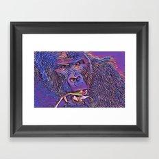 Feeding Gorilla Framed Art Print