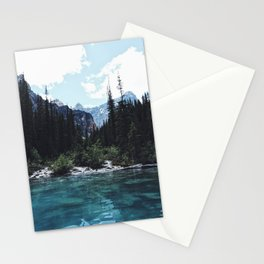Glacier Creek, Moraine lake Banff Stationery Cards