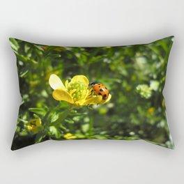 Ladybug crawling around Rectangular Pillow
