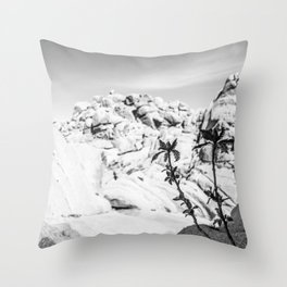 Buttermilk B/W Throw Pillow