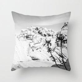 Buttermilk B/W Throw Pillow