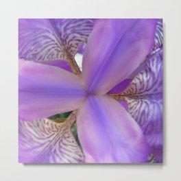 Purple Fashion Flower Metal Print