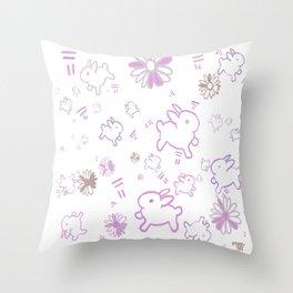 Daisies&Bunnies Throw Pillow