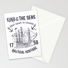 King of the seas Stationery Cards