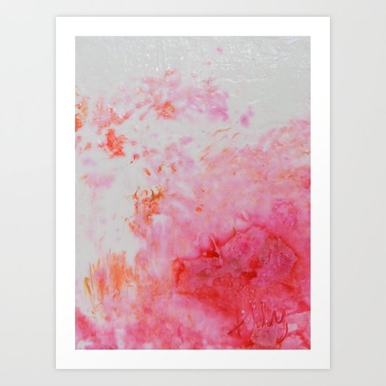Spring Floral #5 - Pink & Coral Abstract Print Art Print