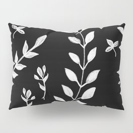 White Leaves Pattern #3 #drawing #decor #art #society6 Pillow Sham