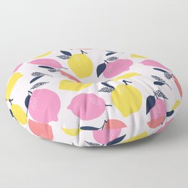 Kitschy Colorful Citrus Pattern Floor Pillow