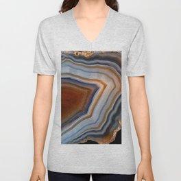 Layered agate geode 3163 Unisex V-Neck