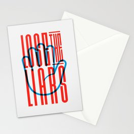 Lose The Liars Stationery Cards