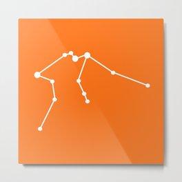Aquarius (White & Orange) Metal Print