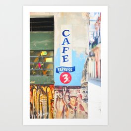 134. Express coffee please, Cuba Art Print
