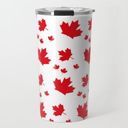 Canada Maple Leaf-Large-White Travel Mug