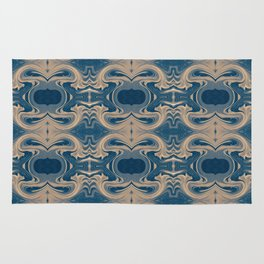 Shades of Blue Abstract Rug