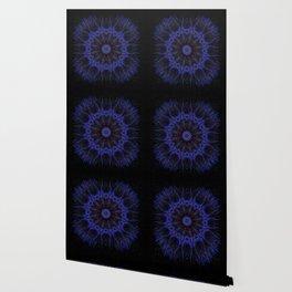 Deep Blue Mandala Wallpaper