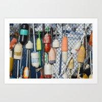 Buoys at Boston Harbor Art Print