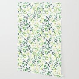 Four Plants Pattern Wallpaper
