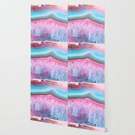 Rose Quartz and Serenity Agate Wallpaper
