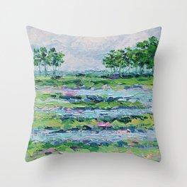 Marsh Romance Throw Pillow