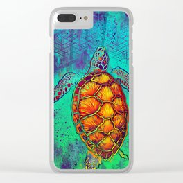 Swim in Eternal Seas Clear iPhone Case
