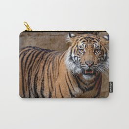 Wonderful Breathtaking Huge Tiger Close Up UHD Carry-All Pouch