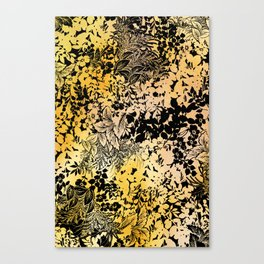 blanket of leaves in warm yellow Canvas Print