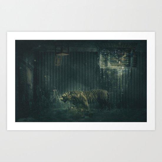 Twilight Zone Tiger Cage Art Print