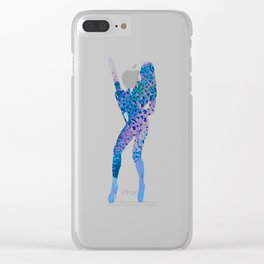 Disintegration Clear iPhone Case