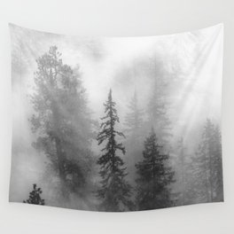 Forest In The Clouds - Nature Photography Wall Tapestry