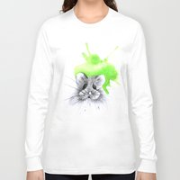 hamster Long Sleeve T-shirts featuring green hamster by Konstantina Louka