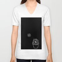 succulent V-neck T-shirts featuring Succulent by Qkids Apparel and Accessories