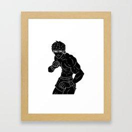 Baki Black Framed Art Print