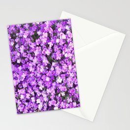 Pretty Purple Flowers, Purple Ground Cover, Beautiful Flowers Stationery Cards