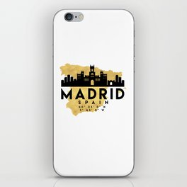 MADRID SPAIN SILHOUETTE SKYLINE MAP ART iPhone Skin