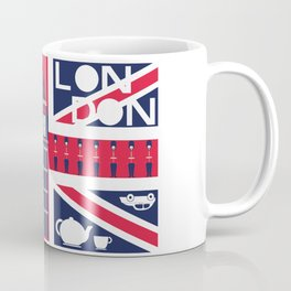 Vintage Union Jack UK Flag with London Decoration Coffee Mug
