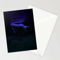 Rising To The Top : Deep Blue Water Photograph Stationery Cards