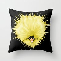 chicken Throw Pillows featuring Chicken by Compassion Collective