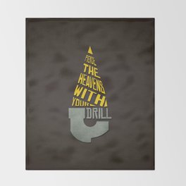 Pierce The Heavens With Your Drill Throw Blanket